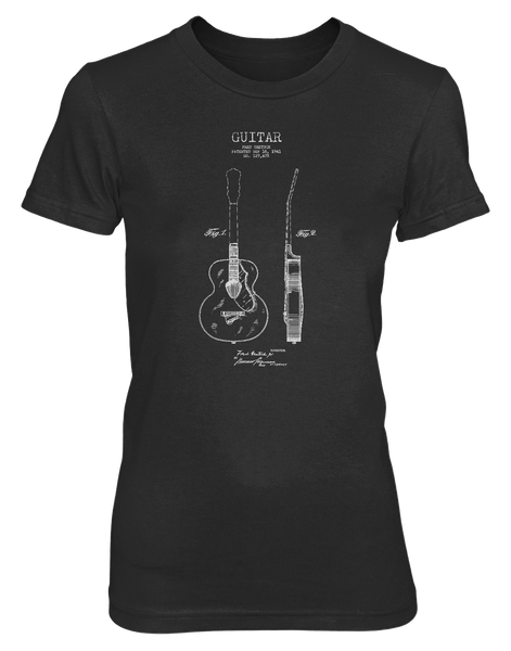 Acoustic Patent (Guitar)- Womens - Tshirt - Small to 3XL