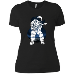 Astronaut Playing Guitar - Womens - Tshirt - Small to 3XL