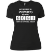 Badass Physics Major - Womens - Tshirt - Small to 3XL