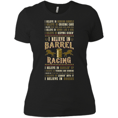 Barrel Racing - Believe - Womens - Tshirt - Small to 3XL
