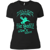 Barrel Racing - Smiling - Womens - Tshirt - Small to 3XL
