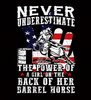 Barrel Racing - Underestimate Womens - Tshirt - Small to 3XL