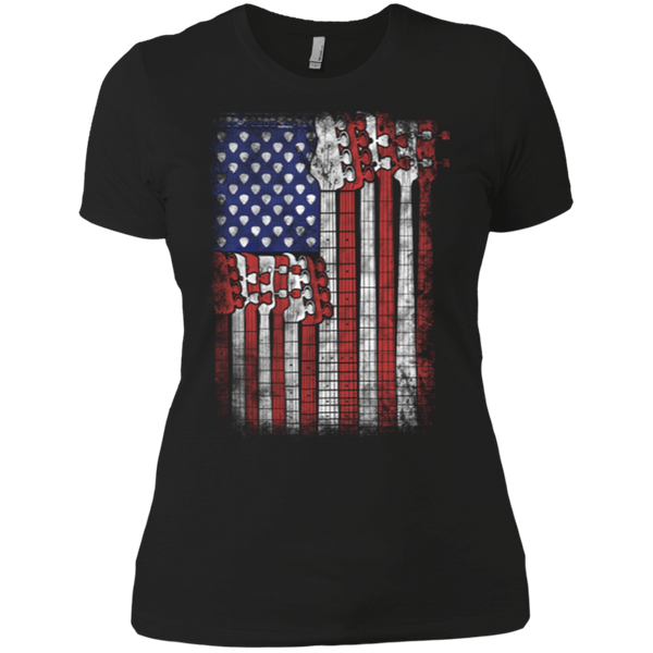 Bass Guitar Flag - Womens - Tshirt - Small to 3XL
