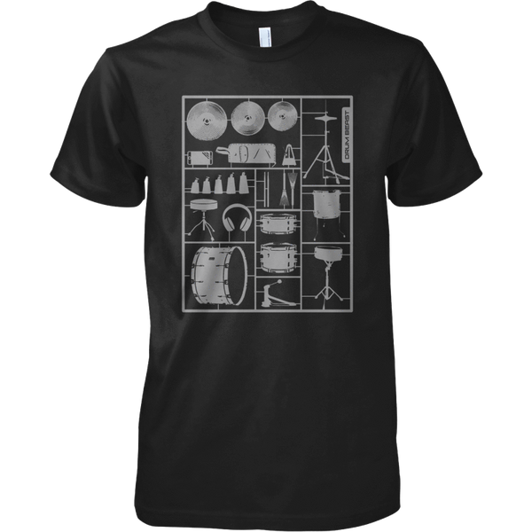 Build Your Own Drum Kit - Mens - Tshirt - Small to 5XL
