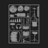 Build Your Own Drum Kit - Mens - V-Neck - Small to 3XL