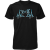 Drummer Heart Line - Mens - Tshirt - Small to 5XL