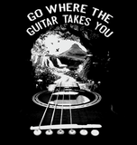 Go Where The Guitar Takes You (Version 3) - Womens - Tshirt - Small to 3XL