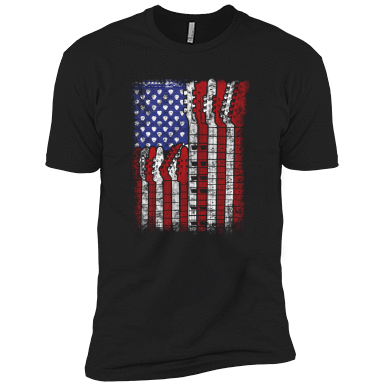 Guitar Flag - Mens - Tshirt - Small to 5XL
