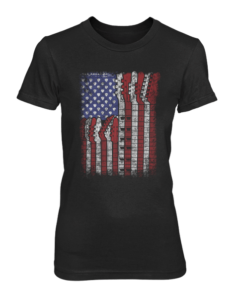 Guitar Flag - Womens - Tshirt - Small to 3XL