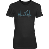 Guitar Heart Line - Womens - Tshirt - Small to 3XL