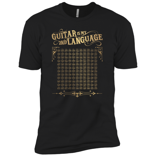 Guitar is My 2nd Language - Mens - Tshirt - Small to 5XL