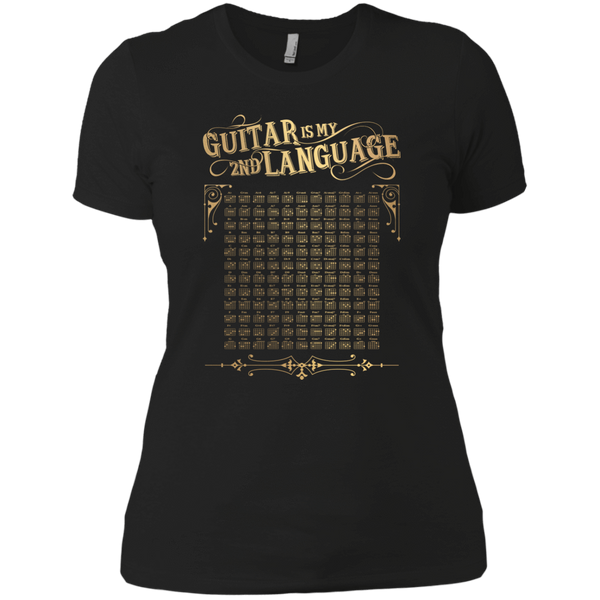 Guitar is My 2nd Language - Womens - Tshirt - Small to 3XL