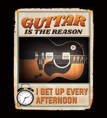Guitar Is The Reason I Get Up Every Afternoon 2018 - Mens - Tshirt - Small to 5XL