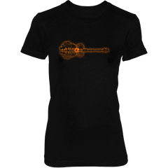 Guitar Sunset Landscape - Womens - Tshirt - Small to 3XL