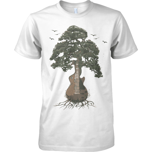 Guitar Tree (Color) - Mens - Tshirt - Small to 5XL