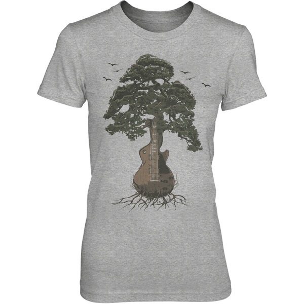 Guitar Tree (Color) - Womens - Tshirt - Small to 3XL