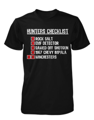 Hunters Checklist - Mens - Tshirt - Small to 5XL