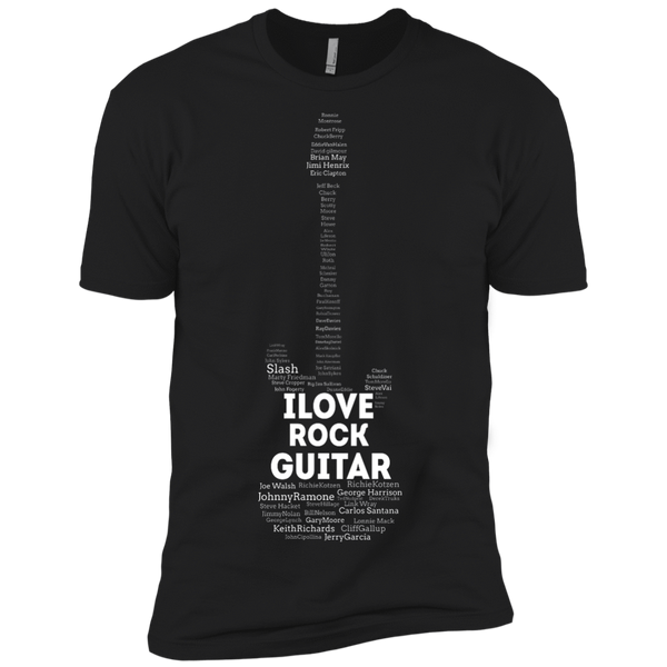 I Love Rock Guitar _?? Mens - Tshirt - Small to 5XL