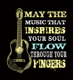 May The Music Flow Through Your Fingers - Mens - V-Neck - Small to 3XL