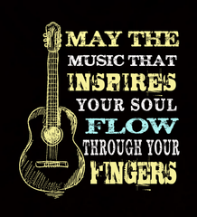 May The Music Flow Through Your Fingers - Womens - Tshirt - Small to 3XL