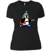 Penguin Playing Guitar - Womens - Tshirt - Small to 3XL