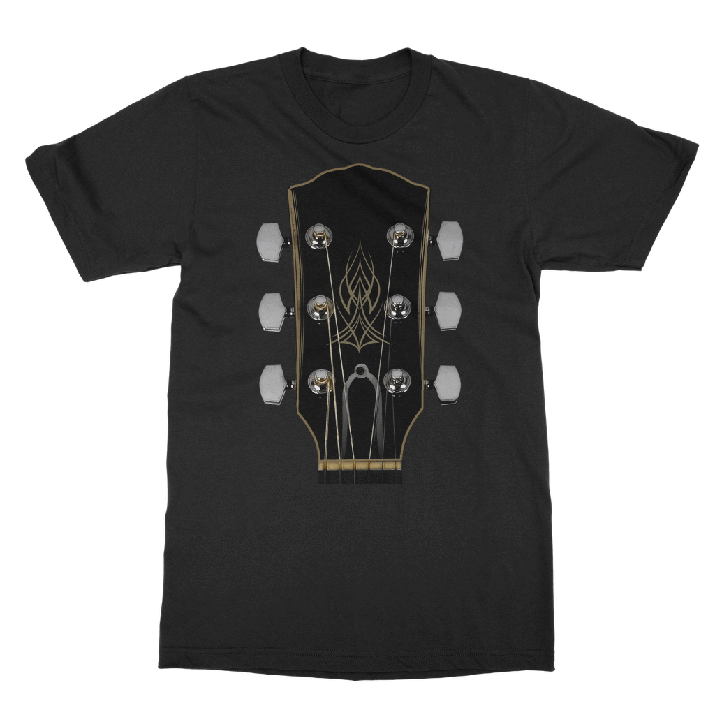 Personalized Guitar Headstock - Mens - Tshirt - Small to 5XL