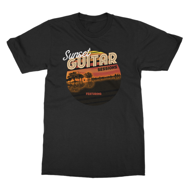 Personalized Guitar Sunset Sessions - Mens - Tshirt - Small to 5XL