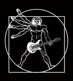 Vitruvian Guitar - Womens - Tshirt - Small to 3XL