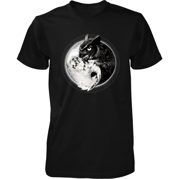 Yin Yang Owl Inspired by Witchcraft & Wicca - Mens - Tshirt - Small to 5XL
