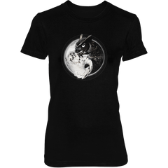 Yin Yang Owl Inspired by Witchcraft & Wicca - Womens - Tshirt - Small to 2XL