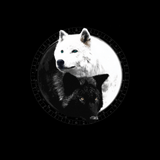 Yin Yang Wolf Inspired by Witchcraft & Wicca - Mens - Tshirt - Small to 5XL