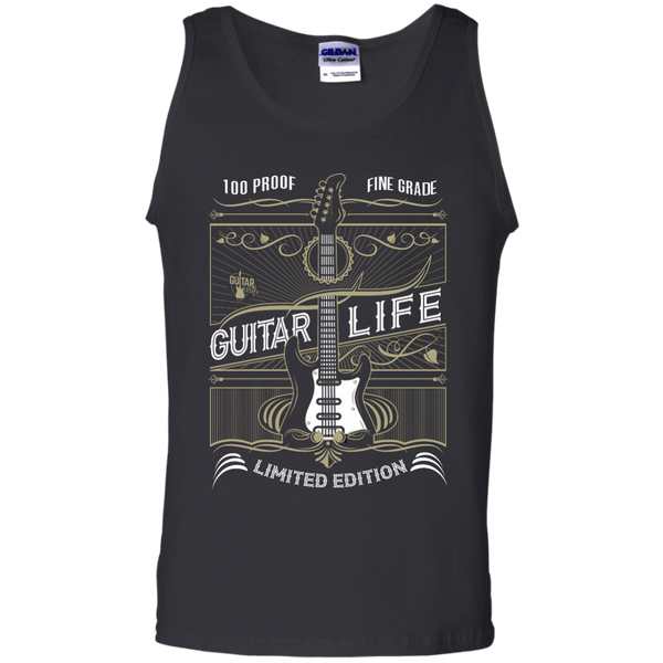 100% Proof Finest Guitar Life - Mens - Tank - Small to 3XL