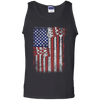 Bass Guitar Flag - Mens - Tank - Small to 3XL