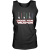 Choose Your Weapon Guitar Or Light Saber - Mens - Tank - Small to 3XL
