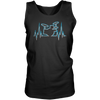 Drummer Heart Line - Mens - Tank - Small to 3XL