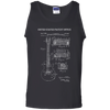 Guitar Patent Drawing - Mens - Tank - Small to 3XL