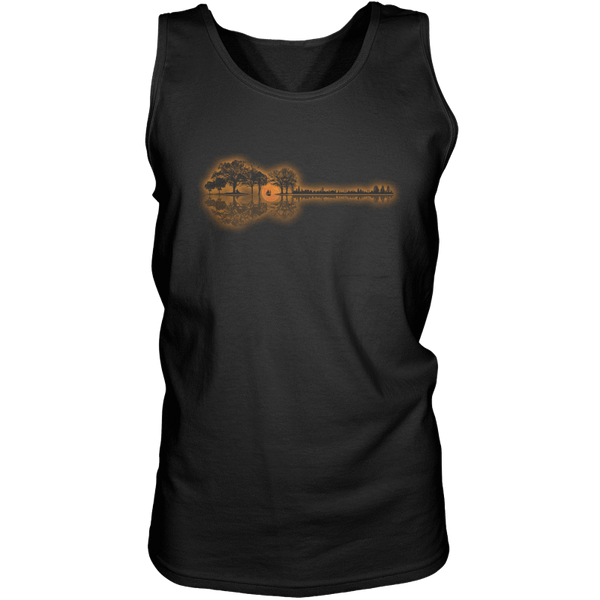 Guitar Sunset Landscape - Mens - Tank - Small to 3XL