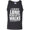 I Enjoy Long Romantic Walks to the Drum Kit - Mens - Tank - Small to 3XL