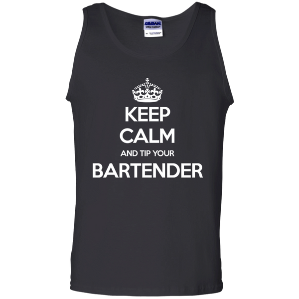 Keep Calm And Tip Your Bartender - Mens - Tank - Small to 3XL