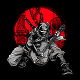 Ninja Playing Guitar - Mens - Tank - Small to 3XL