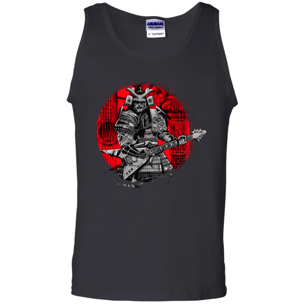 Samurai Playing Guitar - Mens - Tank - Small to 3XL
