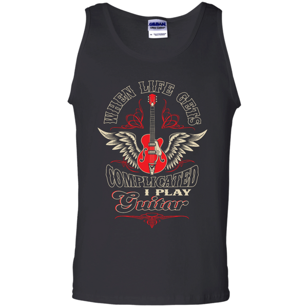 When Life Gets Complicated - I Play Guitar - Mens - Tank - Small to 3XL