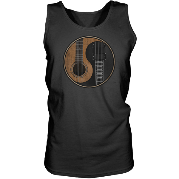 Yin Yang Guitar - Mens - Tank - Small to 3XL