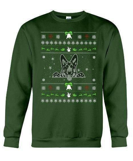 German Shepherd - Unisex - Sizes Small to 5XL Ugly Christmas Sweater
