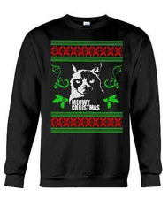 Meowy Christmas Grumpy Cat - Unisex - Sizes Small to 5XL Ugly Christmas Sweater