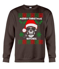 Merry Christmas Bitches Skull - Unisex - Sizes Small to 5XL Ugly Christmas Sweater