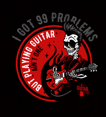 99 Problems Playing Guitar Not One - Mens - V-Neck - Small to 3XL