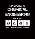 Badass Chemical Engineering Major - Mens - V-Neck - Small to 3XL