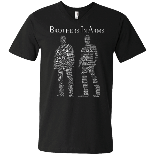 Brothers In Arms - Mens - V-Neck - Small to 3XL