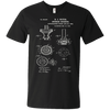 Bunsen Burner Patent - Mens - V-Neck - Small to 3XL